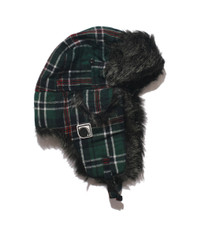 Humor Hut Green/Navy Check Hat