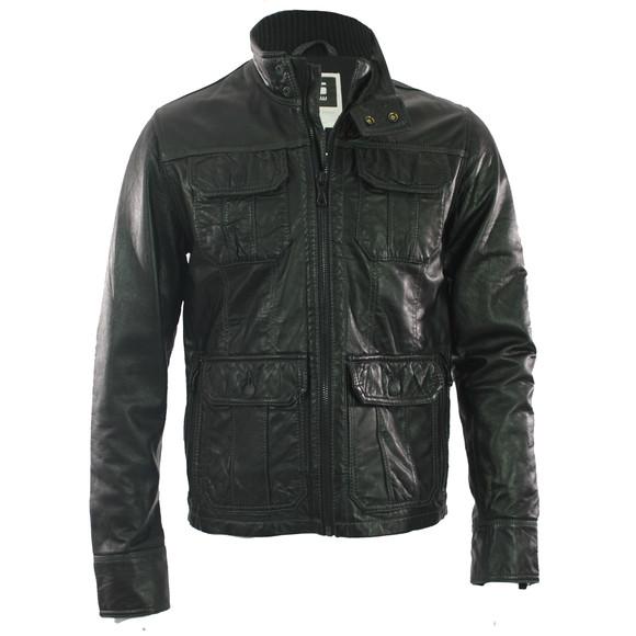 g star dryden black leather jacket masdings. Black Bedroom Furniture Sets. Home Design Ideas