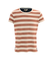 Suit White/Coral Bane Stripe Crew Neck Tee