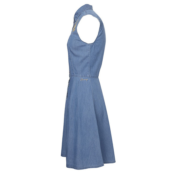 Firetrap Womens Blue Firetrap Maria Denim Sleeveless Dress - Light Blue main image