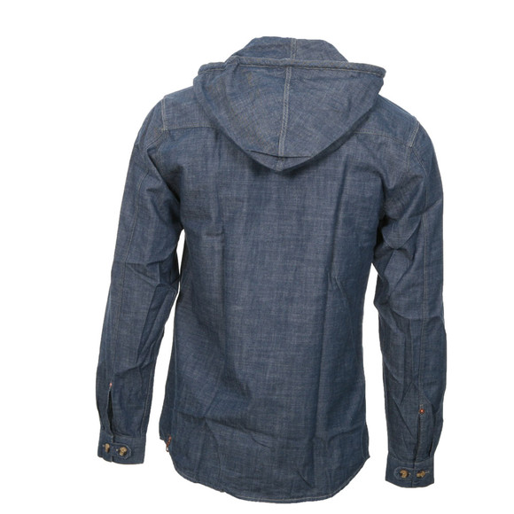 Luke Mens Blue Luke Hoover Hooded Shirt main image