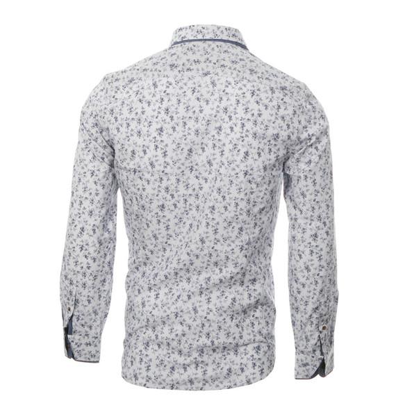 Ted baker blue stripe floral print shirt masdings for Ted baker floral print shirt