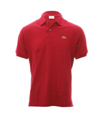 Lacoste L1212 Bordeaux Plain Polo Shirt