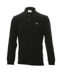 Lacoste L1312 Black Long Sleeve Polo