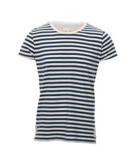 Suit Blue/White Berlin Stripe Crew Tee
