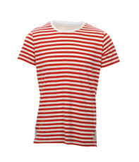 Suit Red/White Berlin Stripe Crew Tee