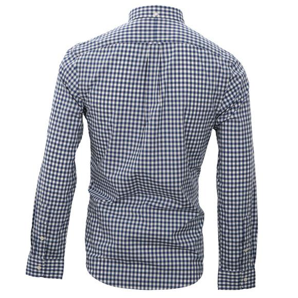 Ralph Lauren Poplin Slim Fit Navy White Check Shirt