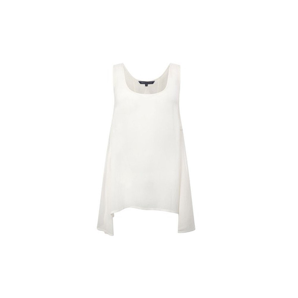French Connection Army Tank Top - White main image