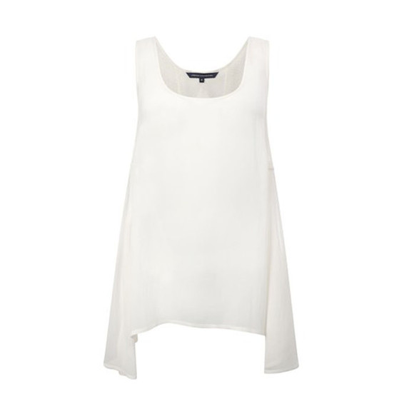 French Connection Womens White French Connection Army Tank Top - White main image