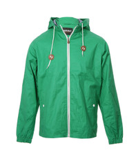Farah Green Short Zip CF Coat