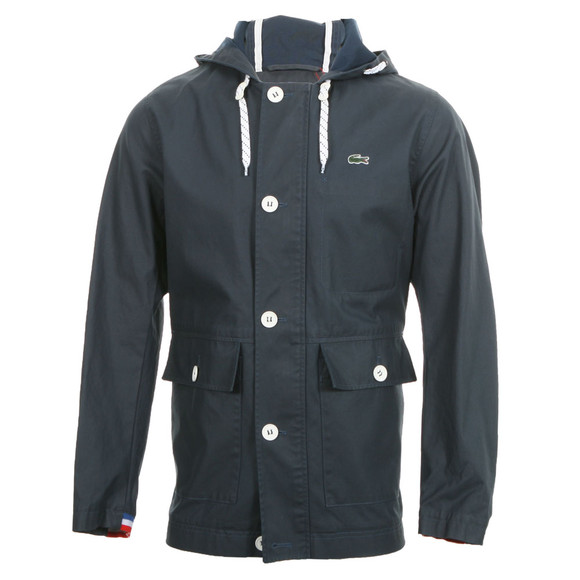 lacoste live lacoste l ve bh2197 hooded jacket oxygen clothing. Black Bedroom Furniture Sets. Home Design Ideas