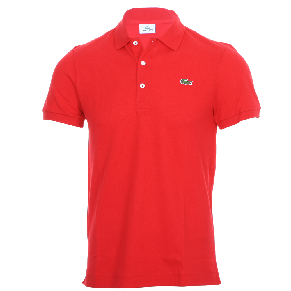 lacoste ph1211 red slim fit polo shirt oxygen clothing. Black Bedroom Furniture Sets. Home Design Ideas