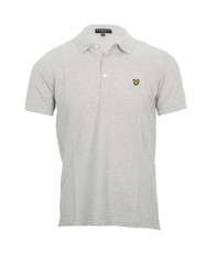 Lyle & Scott Plain Light Grey Marl Polo
