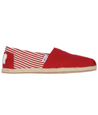 Toms Classic Stripe Rope Slip On 