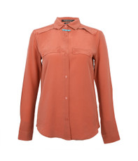Maison Scotch Clean Look Silk Shirt With Necklace