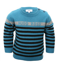Boss Boys J05163 Stripe Crew Jumper