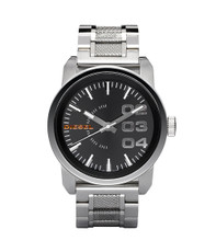 Diesel Silver DZ1370 Large Round Metal Strap Watch