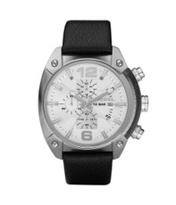 Diesel DZ4214 Round Face Leather Strap Watch