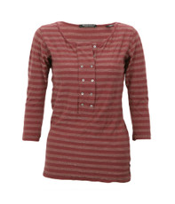 Maison Scotch Grandad Tee With Double Row Placket