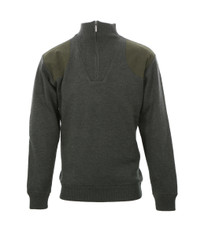 Barbour Olive Storm Half Zip Knitted Top