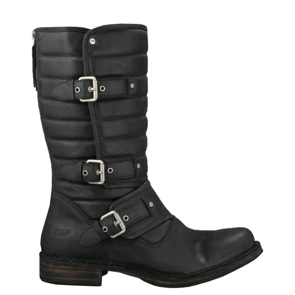 Ugg Womens Black Tatum Leather Boot main image