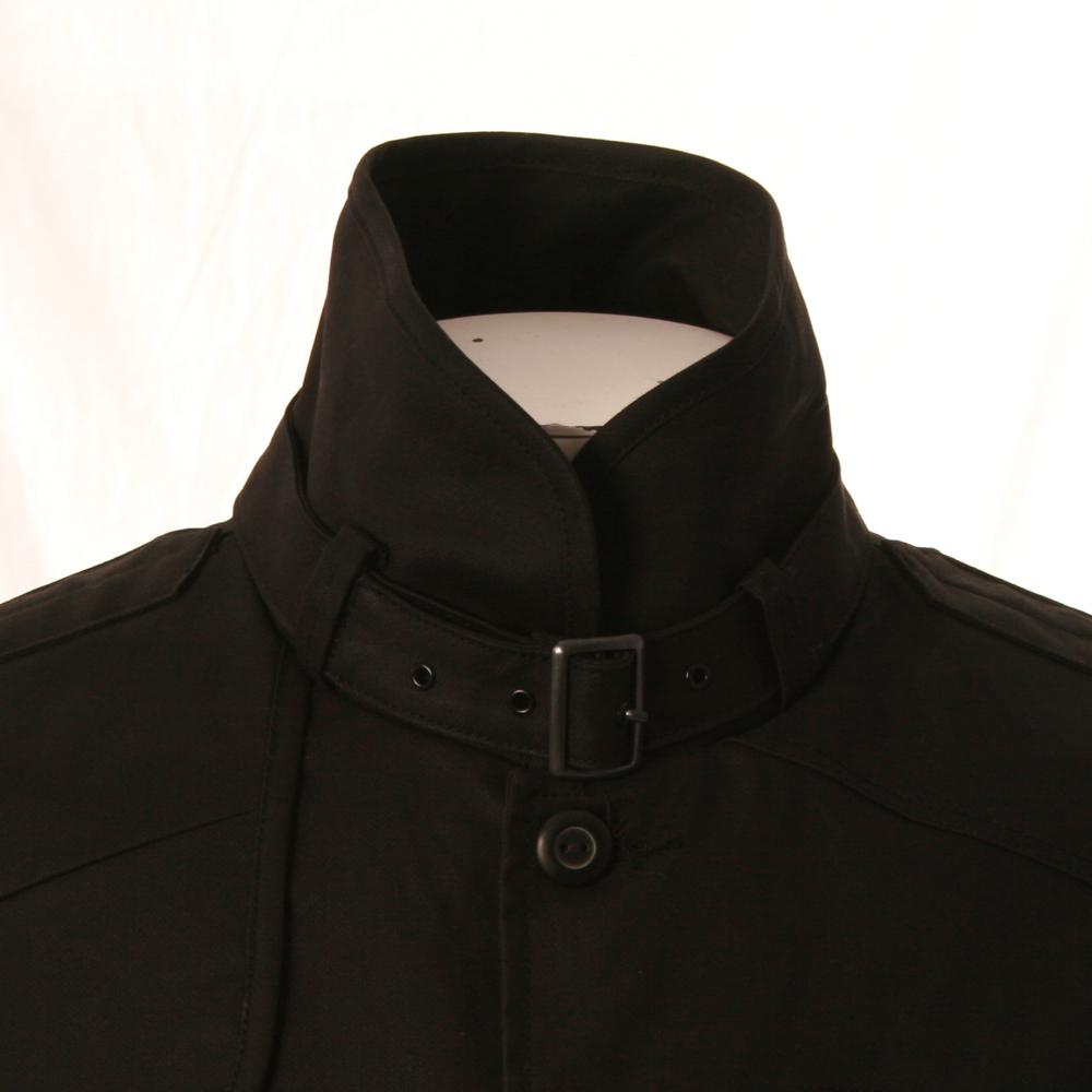 star mens black g star decoy black garber trench coat. Black Bedroom Furniture Sets. Home Design Ideas