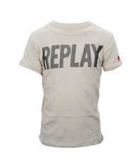 Replay Boys 7311 Large Logo Crew Neck Tee