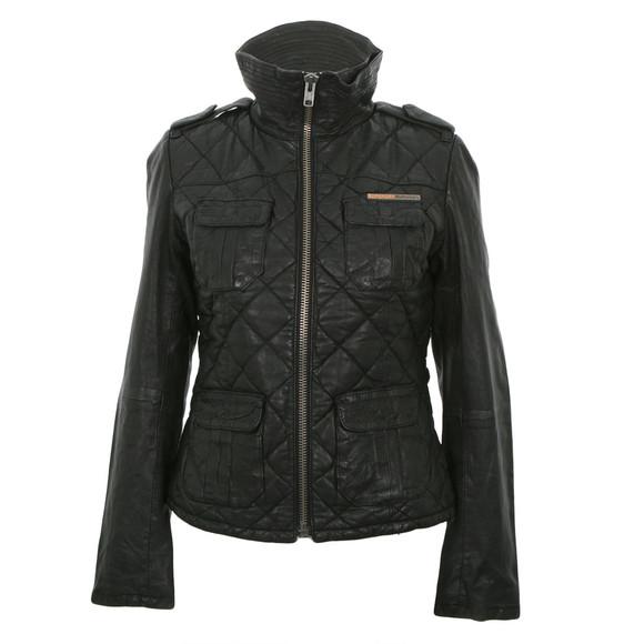 Superdry ramona leather jacket