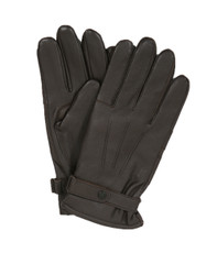 Barbour Brown Burnished Leather Glove
