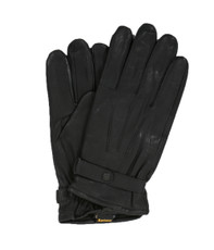 Barbour Black Burnished Leather Glove