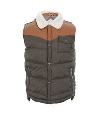 Bellfield Quilted Gilet With Cord Shoulders