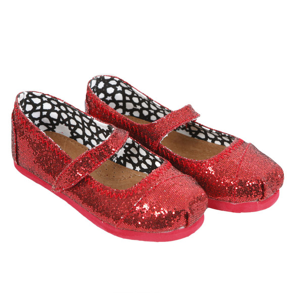Toms Girls Red Toms Mary Jane Shoe main image