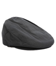 Barbour Navy Wax Flat Cap