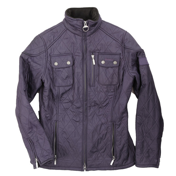 Barbour International Womens Purple Trials Polarquilt Jacket main image