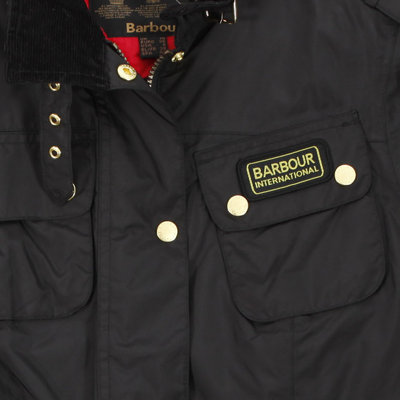 Barbour International Womens Black Barbour Black Rainbow International Gold Jacket main image
