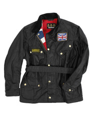 Barbour Black International Union Jack Jacket