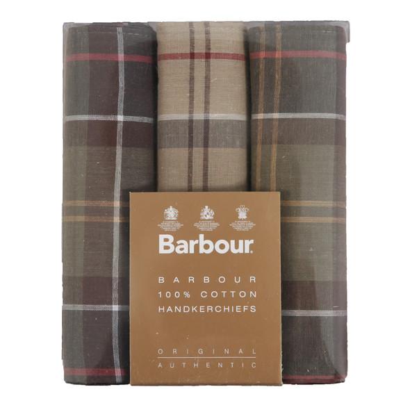 Barbour Lifestyle Mens Brown Tartan Handkerchiefs main image