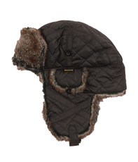 Barbour Quilted Nylon Fur Hunter Hat