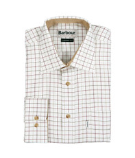 Barbour Field Tattersall Red/Olive LS Shirt