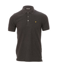 Lyle & Scott Plain Charcoal Marl Polo