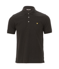 Lyle & Scott Plain Black Polo