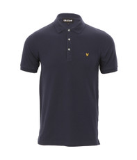 Lyle & Scott Navy Plain Polo