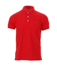 Lyle & Scott Plain Red Polo