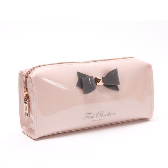 Ted Baker Womens Pink Katient Small Bow Make Up Bag Main